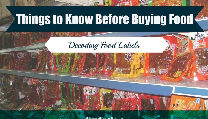Before Buying Food