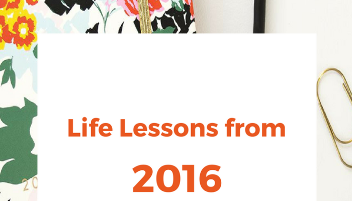 Life Lessons from 2016